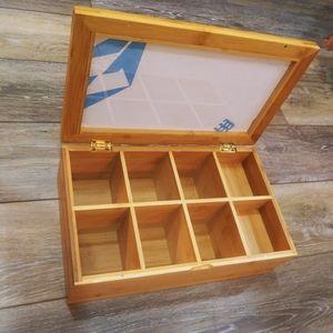 Kwijns Kreation Bamboo tea holder box.